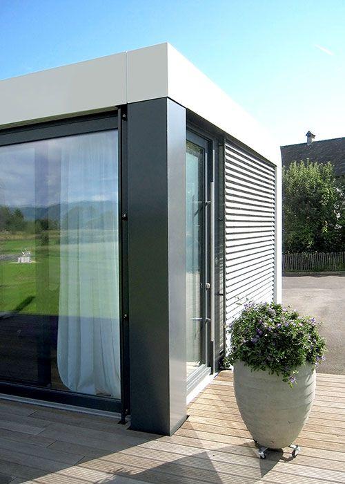 neues wohnen im cubig designhaus minihaus wohnen pinterest container buildings and. Black Bedroom Furniture Sets. Home Design Ideas
