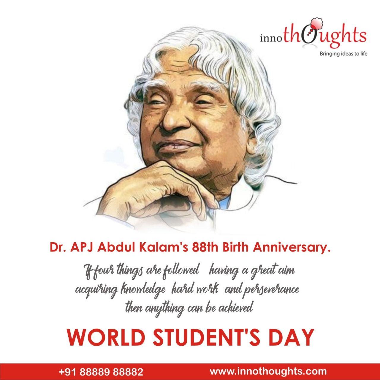 15th October, former president APJ Abdul Kalam's birthday