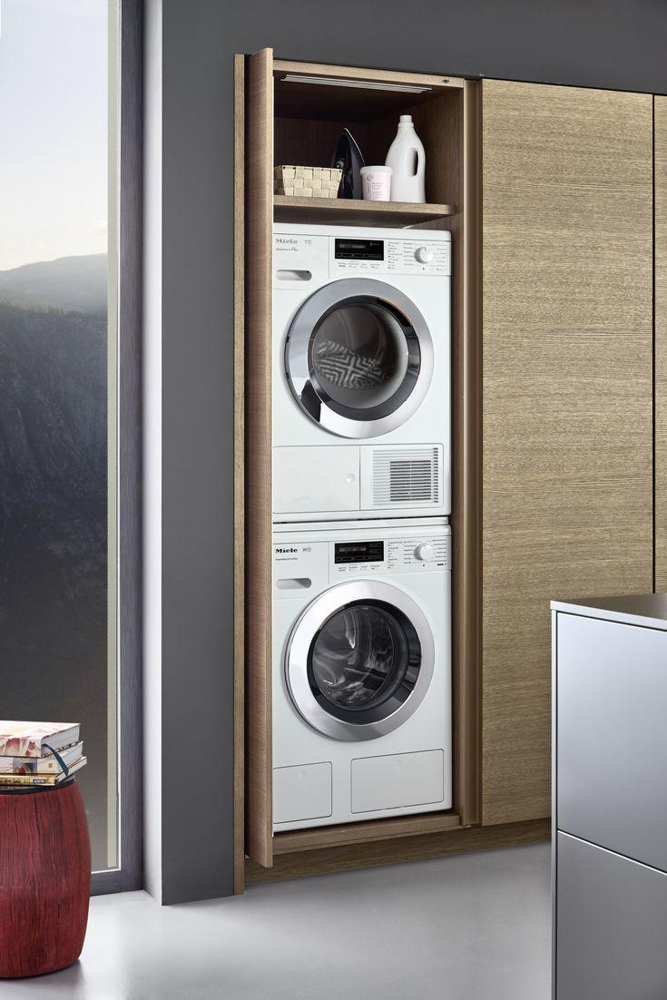 Waschmaschine In Der Kuche Wie Gehen Kuchenhersteller Nolte Nobilia Schuller Leicht Ha Vintage Laundry Room Laundry Room Organization Laundry Room Design