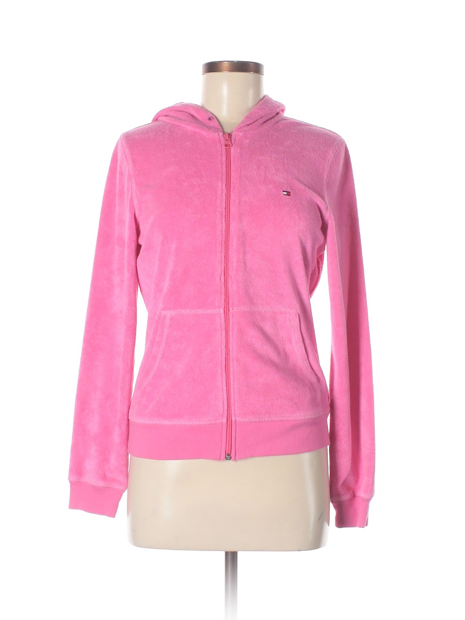 Tommy hilfiger fleece pink womenus jackets u outerwear