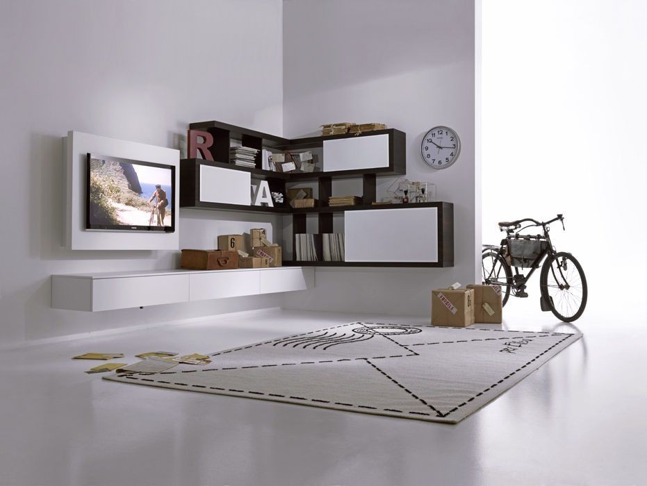 parete attrezzata moderna ad angolo - Cerca con Google | Idee per ...