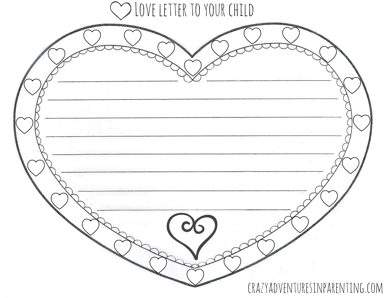 Printable Valentine Letter Templates