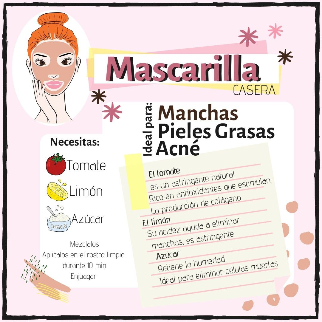 Mascarilla Manchas Y Piel Grasa Consejos De Belleza Caseros Tips De Belleza Caseros Cuidado Natural De La Piel