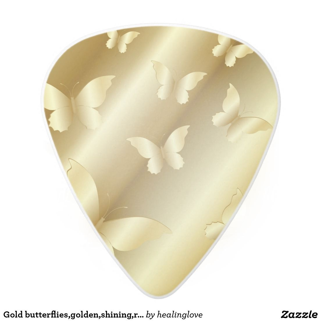 Gold Butterfliesgoldenshiningroyaltemplate Guitar Picks