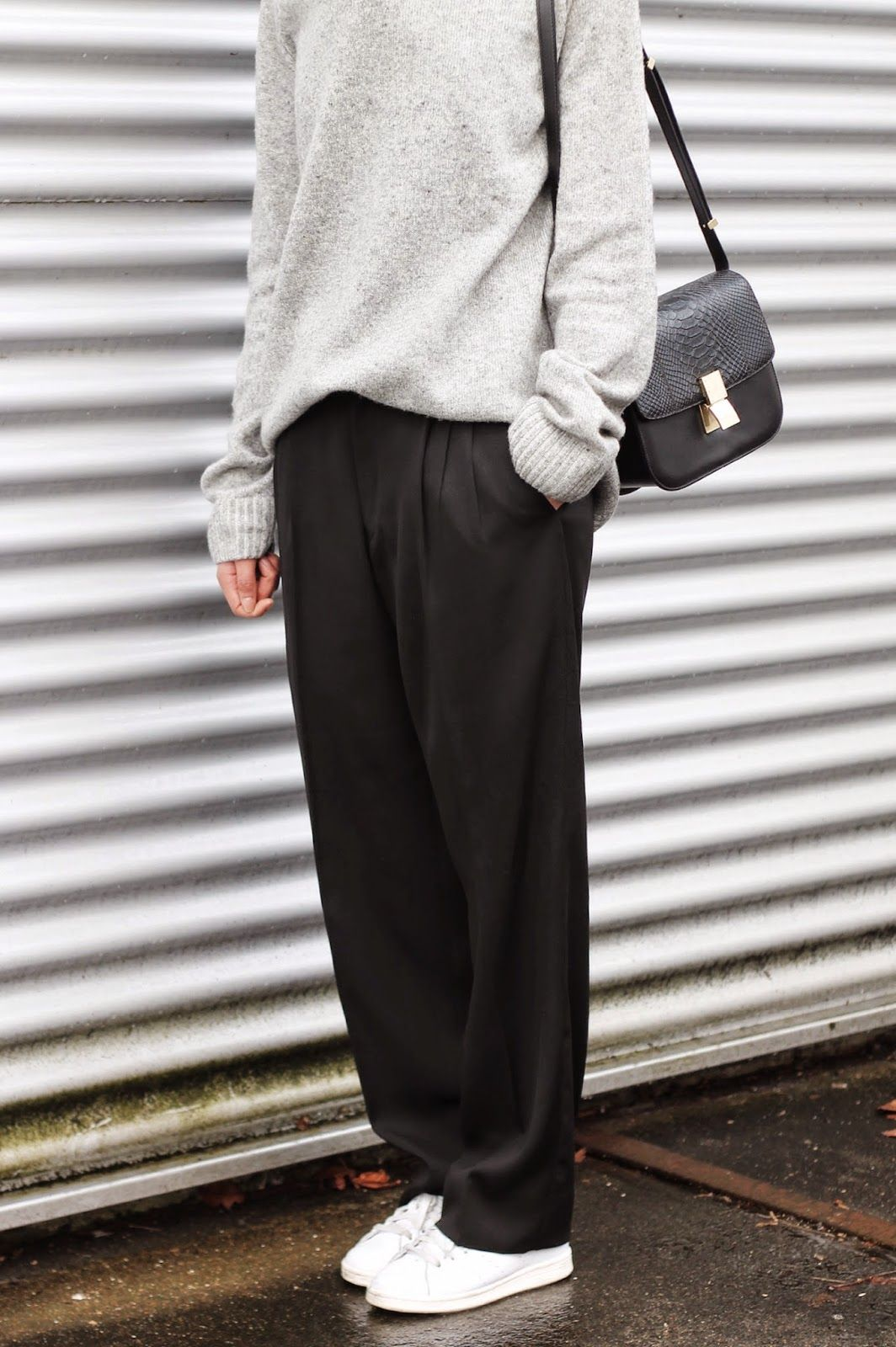 desiresbyus  OUTFIT - INDUSTRIAL Baggy Trousers Outfit, Loose Pants Outfit,  Black Slacks Outfit 1c91cbfa944a
