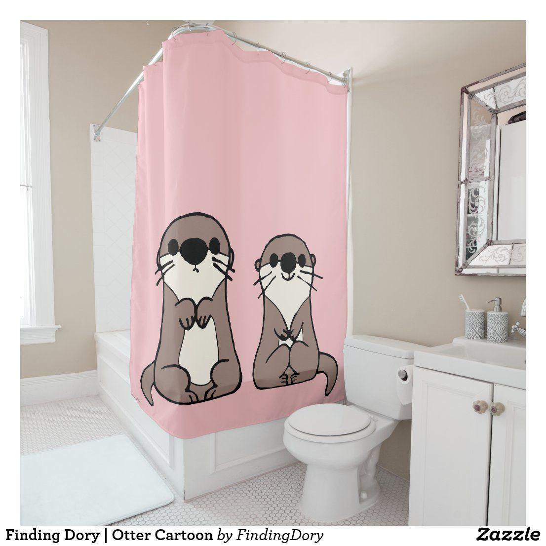 finding dory otter cartoon shower