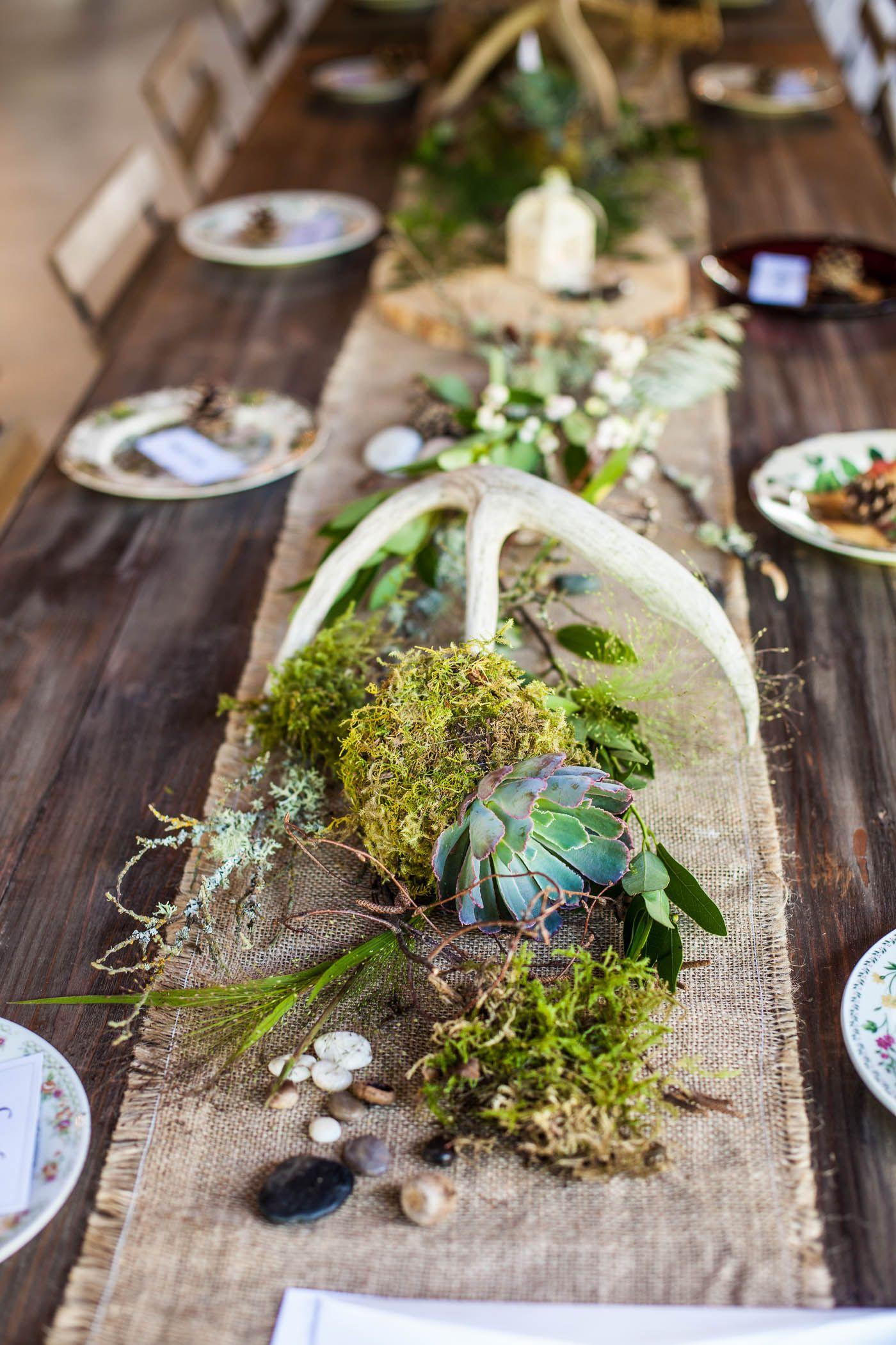 Deer Themed Wedding Woodland Wedding Burlap Lace Moss Wood