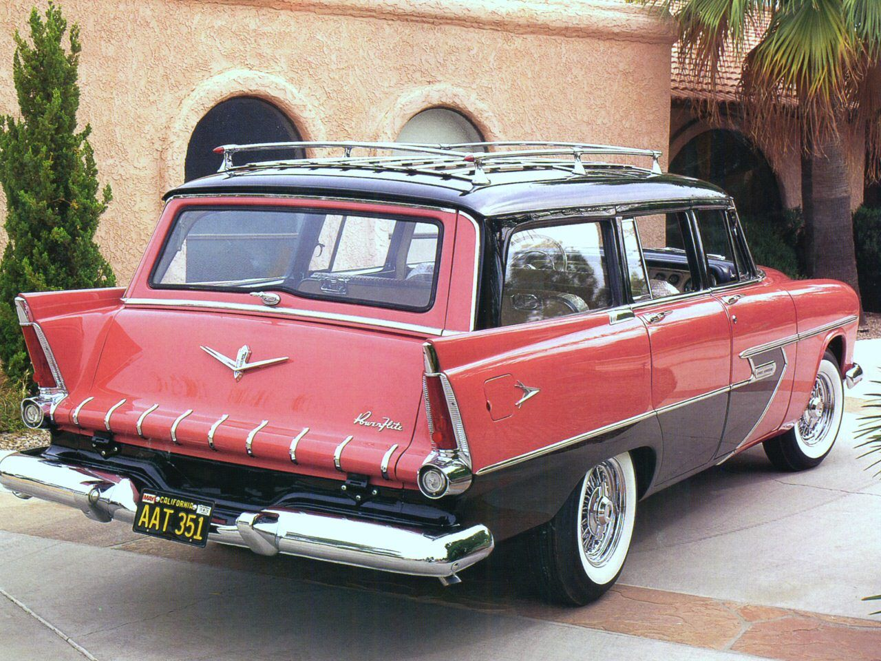 Cars 1956 plymouth sport suburban station wagon coral black rvr