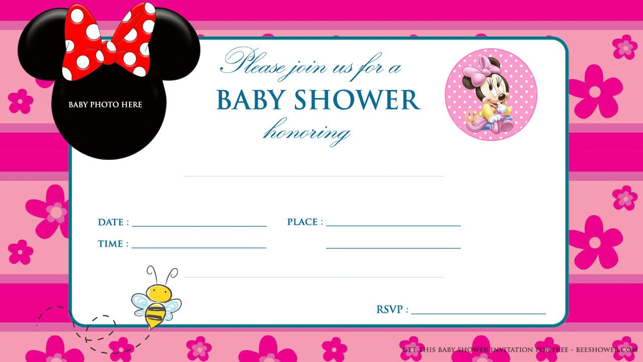 Download Free Printable Mickey Mouse Baby Shower Invitation