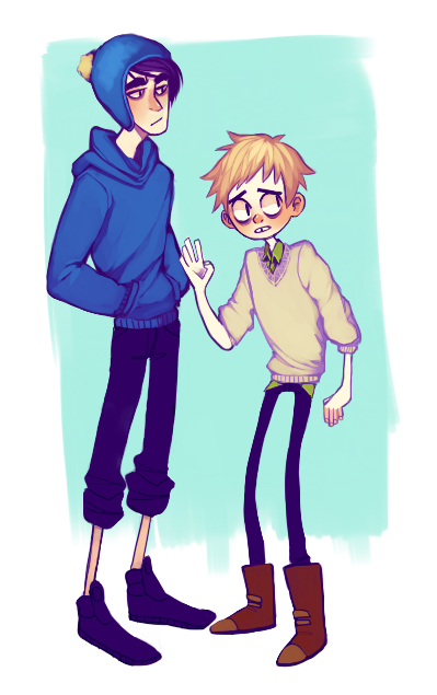 Craig and Tweek. I love pretty much this drawing style!! <3