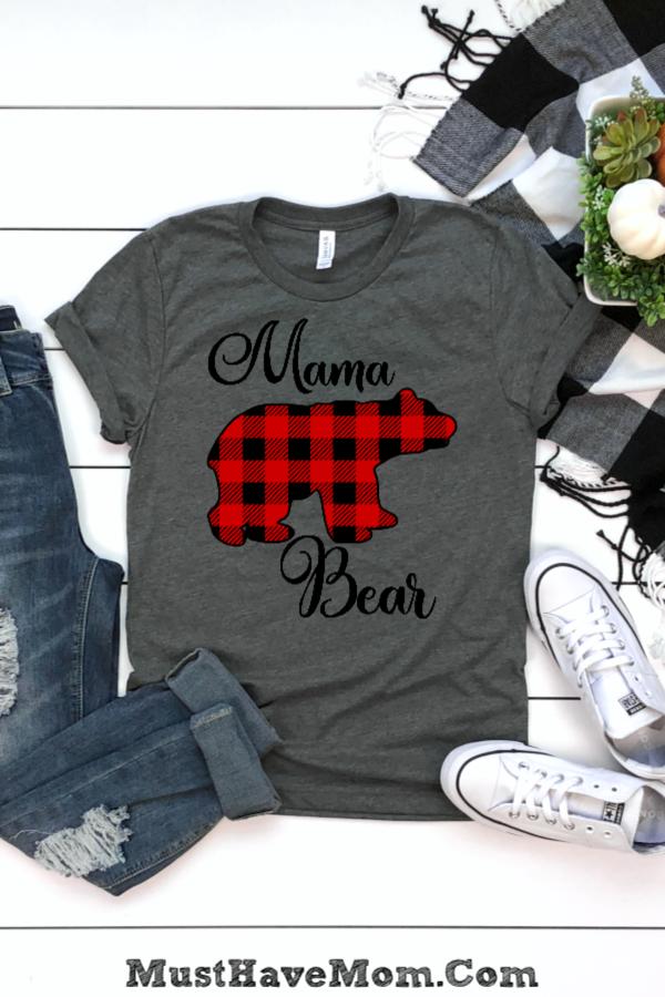 Trendy Buffalo Check Mama Bear Shirt Is My Fave Plus It Pairs With A Baby Bear Tee Or Baby Bear Onesie For A Cute Mommy An Mama Bear Shirt Mama Bear
