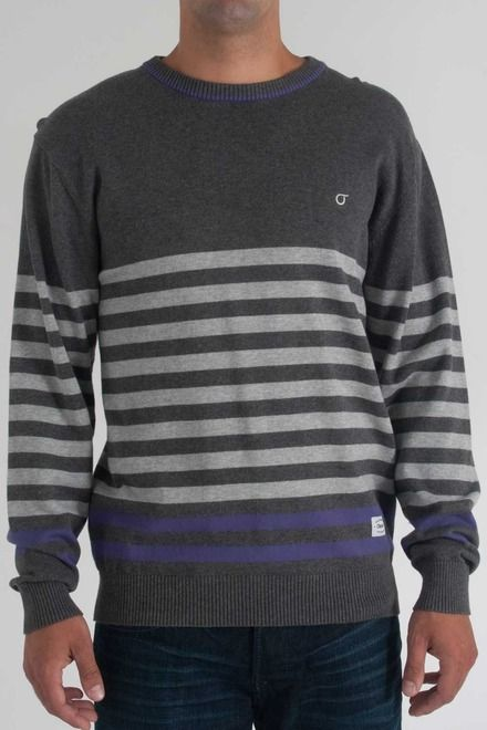 Orisue Carver Sweater in Charcoal Heather- $76.00