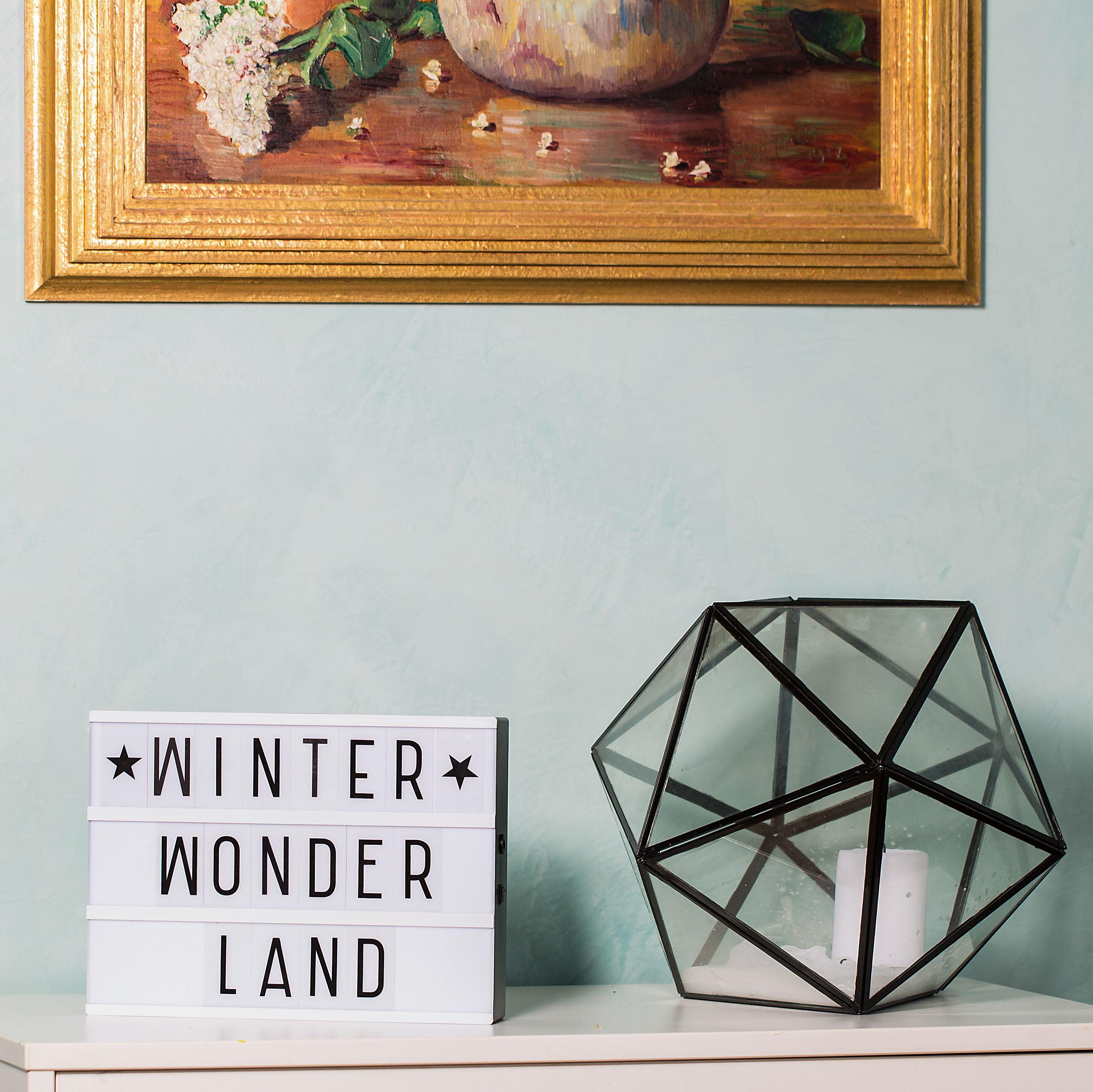 Winter Wonder Land Inspirierende Sprüche Für Die Weihnachtszeit. Schmücke  Deine Wohnung Mit Light Box,