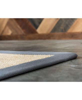 Bound Sisal Bds1 Cream Gray 5 X 8 Area Rug Products In