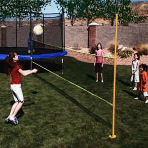 Walmart Azooga Volleyball Trampoline Game Trampoline Games Trampoline Volleyball Net