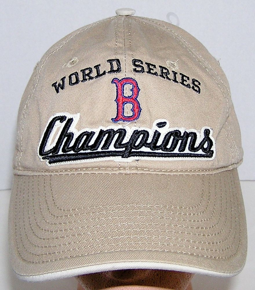 Boston Red Sox MLB Baseball World Series Champions Khaki Strapback Hat  MLB   BostonRedSox 6d99b60310ac