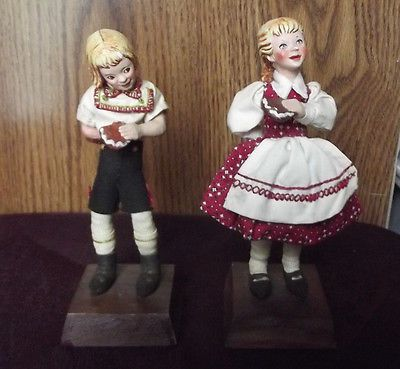 Simpich Character Doll Hansel and Gretel Literary Figure Vintage Gingerbread