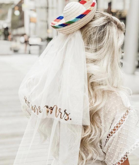 Sombrero Veil – Final Fiesta – Future Mrs. Veil – Wedding Veil – Fiesta – Bride Veil – Bachelorette Gift
