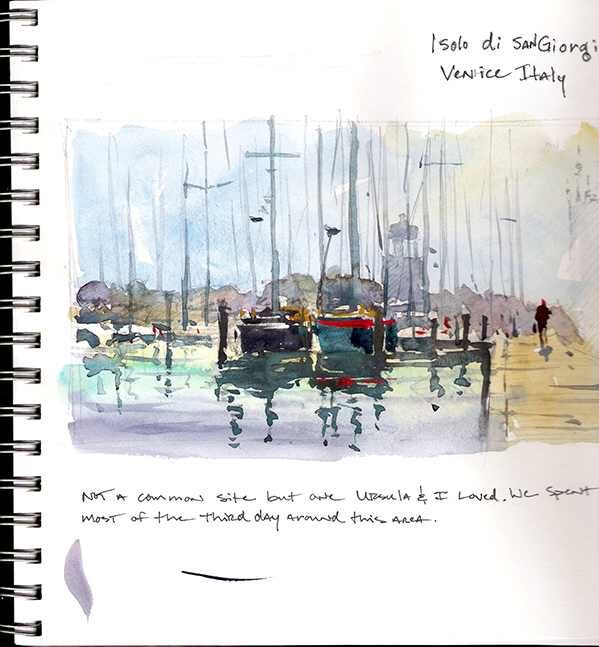 Sketchbook Page Of Watercolorist Ron Stocke Come Join The