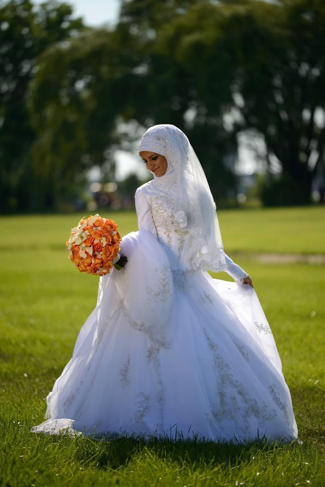 Hijab wedding dress perfect muslim wedding muslim bride