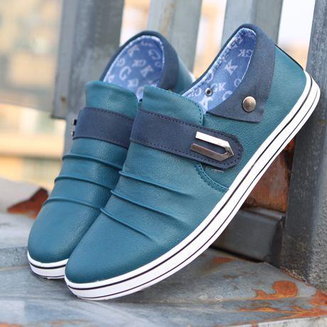 men's male casual shoes autumn shoes lazy velcro