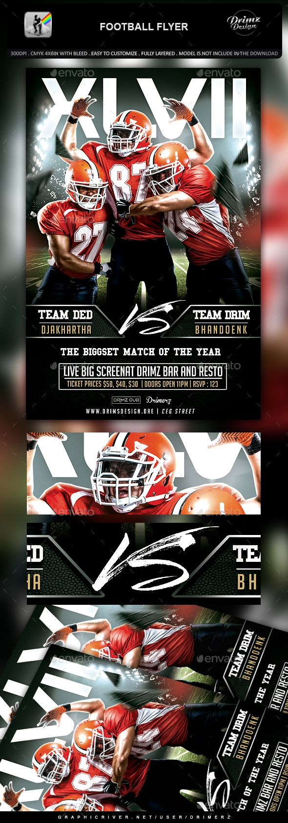 Football Flyer | Flyer template, Template and Event flyers