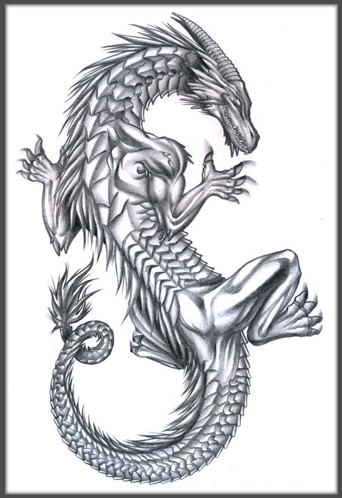 Drachen-Tattoo-Design -  # #dragontattoo