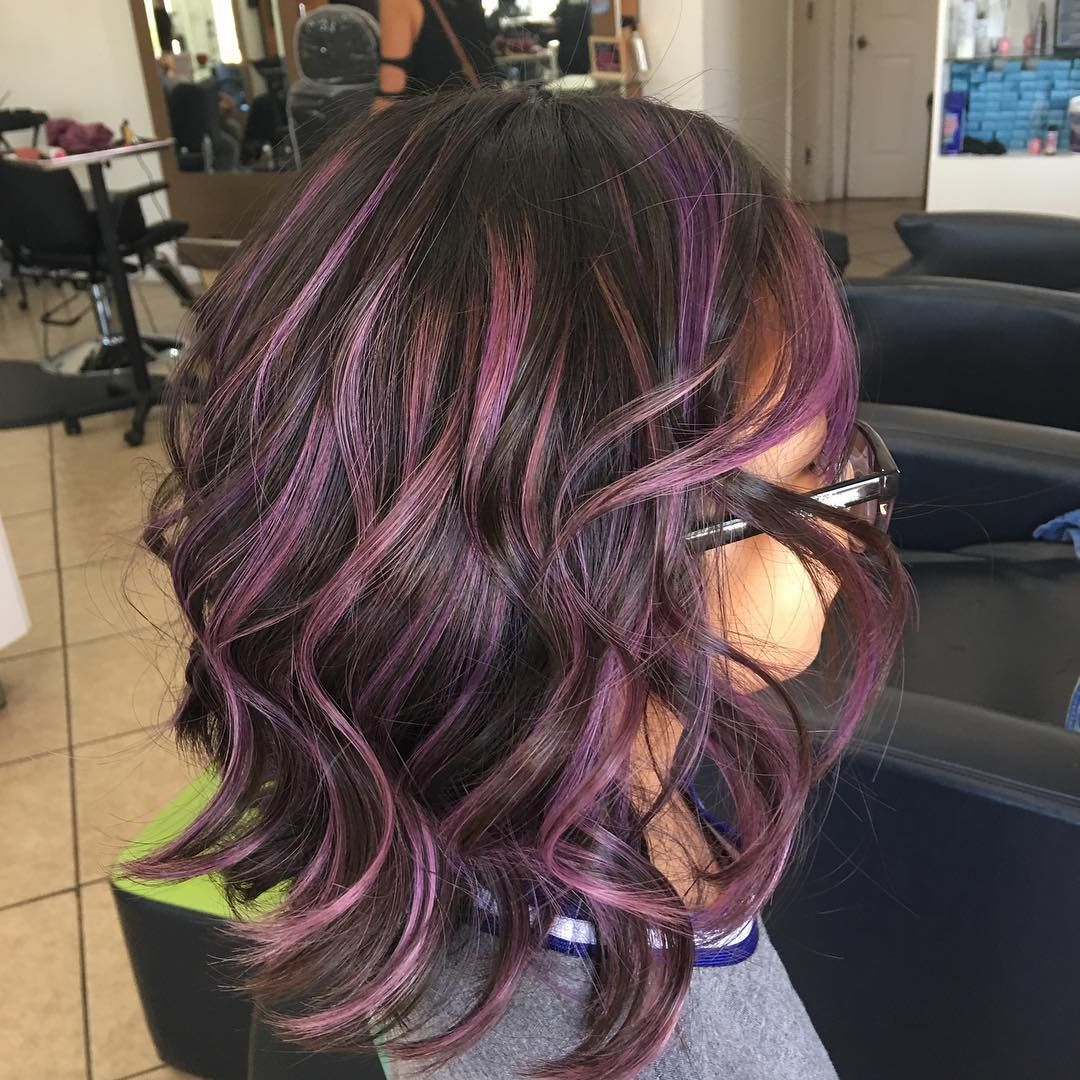 6 Likes 2 Comments Christine Lgh Christine Lgh On Instagram Pops Of Purple For This Little Girl Hair Styles Hair Color Plum Hair Color Options