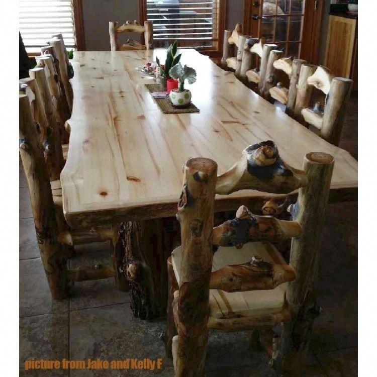 Aspen Lodge 6 Foot Dining Table Log Rusticfurniture