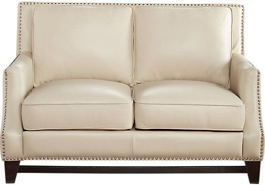 shop for a sofia vergara bal harbour beige leather loveseat at rooms to go find