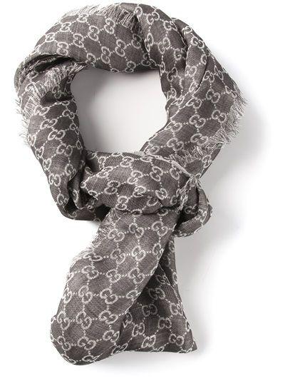 f63ed5c50 GUCCI - logo scarf 4 Gucci Scarf, Scarf Design, Womens Scarves, Fashion  Watches