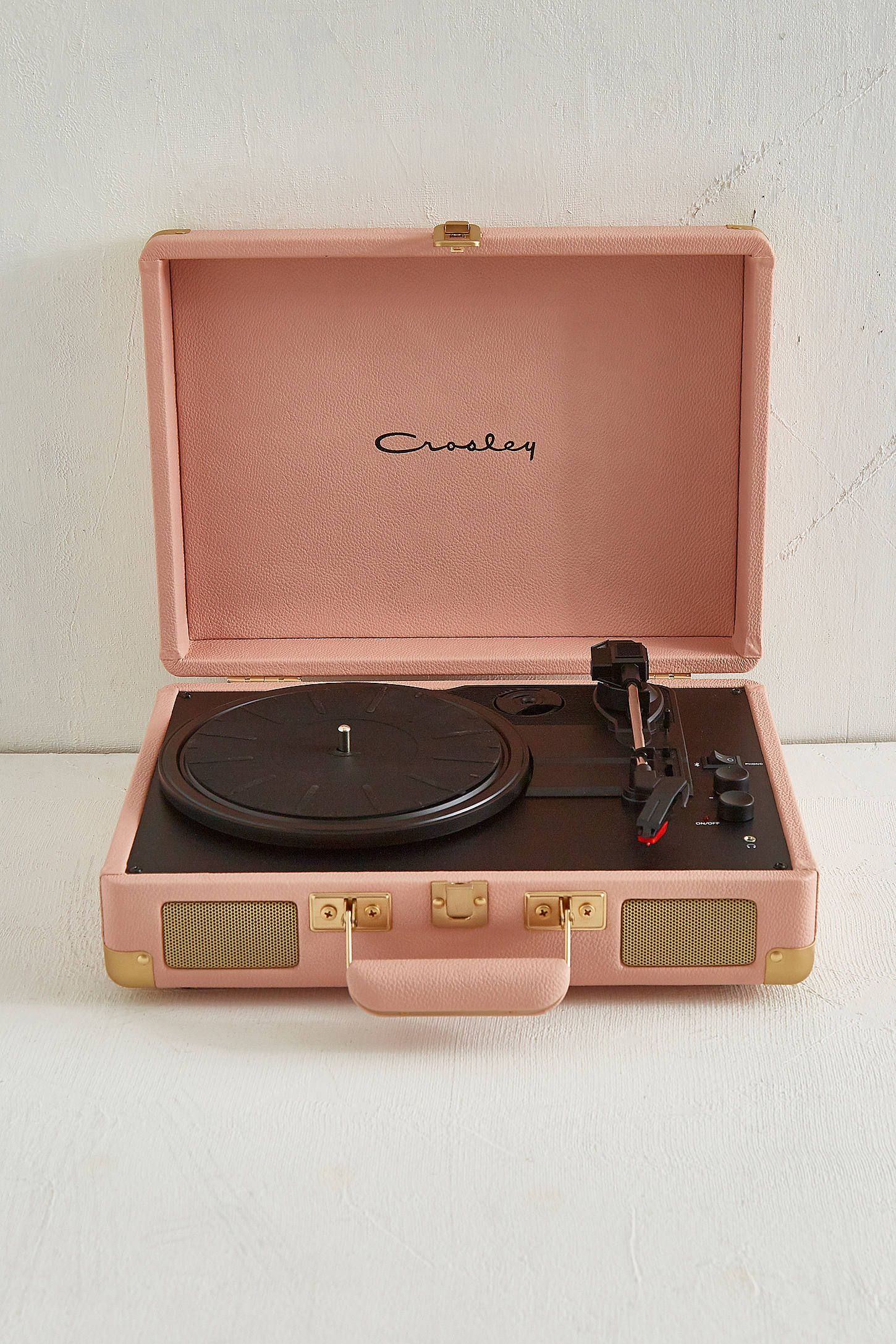 Crosley Cruiser Pink And Gold Bluetooth Vinyl Record