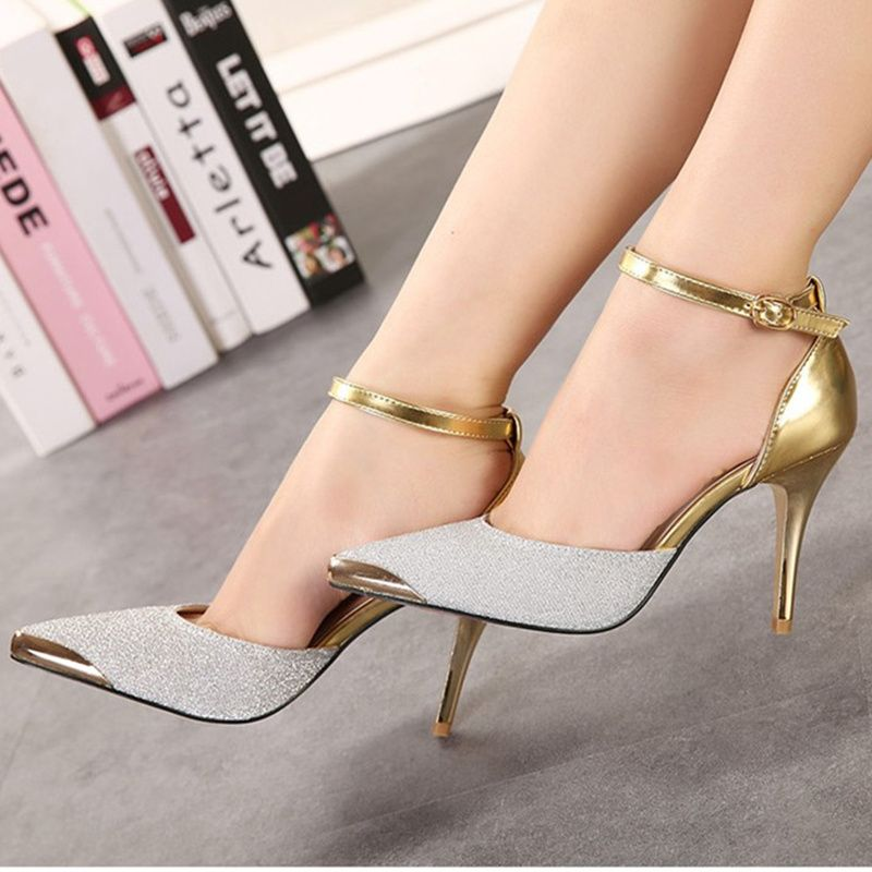 Women's Dressy Sequins Pointed Toe High Stiletto Heels Side Zipper Wedding Ankle Boots