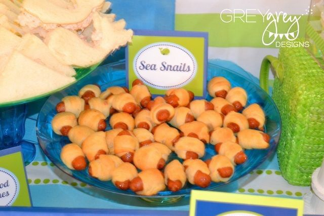 Under The Sea Theme Food With Images Sea Birthday Party