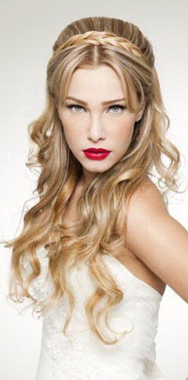 Peinados Pelo Rizado Nochevieja Semirecogido Tupe Peinados Hair