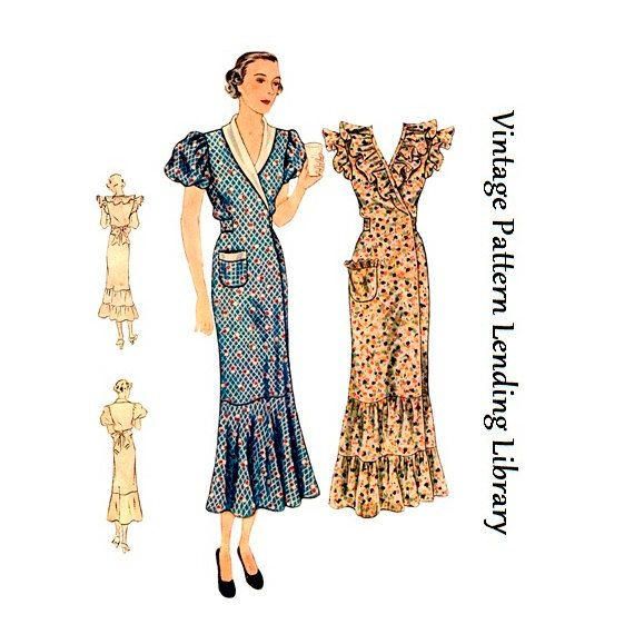 1930s Ladies Hooverette Day Dress by VintagePatternGirl on Etsy ...