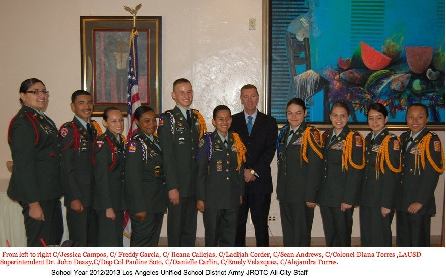 Lausd S Top Ten Jrotc Cadets Were Honored At The Junior Reserve