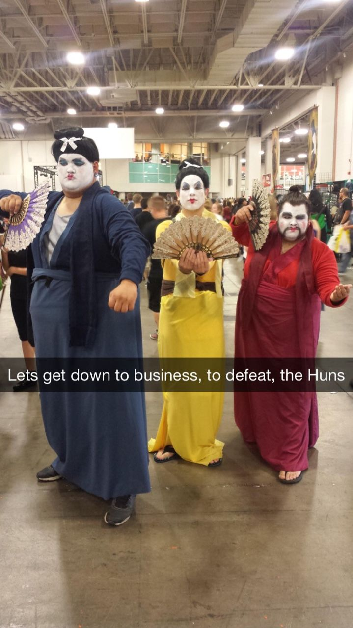 """let's get down to business, to defeat the huns"""" -- slc comic con via"""