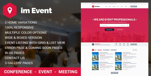Event management html template bootstrap themes pinterest event management html template maxwellsz