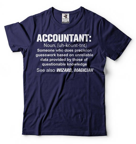 Accountant T-shirt Guesswork Definition Noun Accounting T