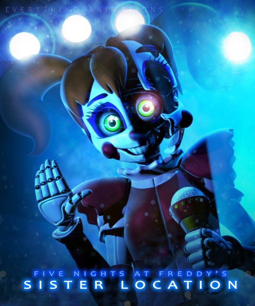 Five Nights At Freddy S Circus Baby Wallpaper Fnaf Sl Circus Baby Stylised By Everythinganimations Fnaf Baby Fnaf Circus Baby