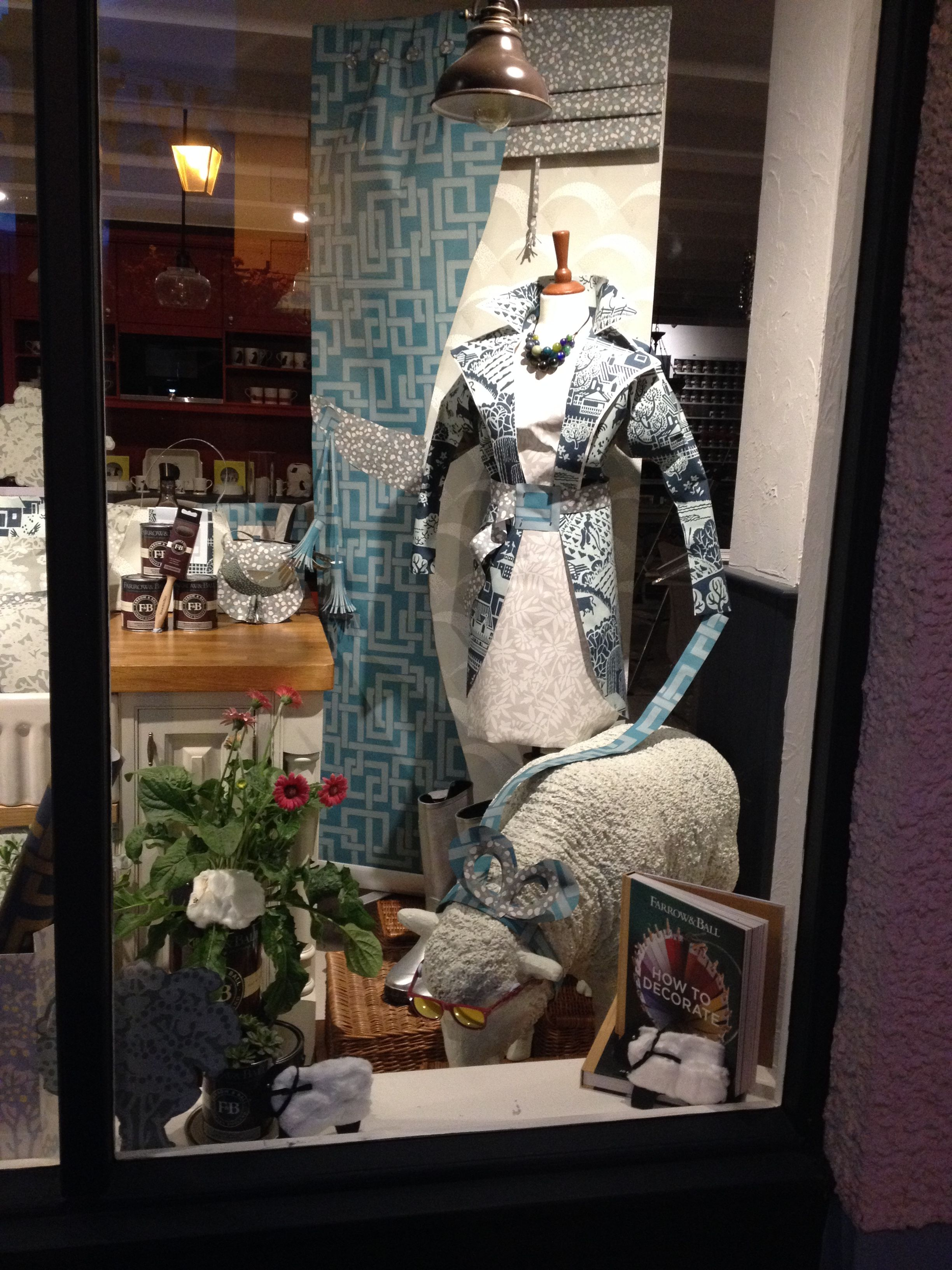 A beautiful window display from F&B stockist Southey Interiors in Keswick, UK