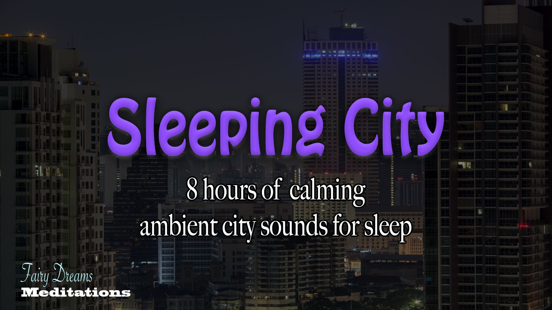 Dark Screen Ambient Sounds Of The City At Night Distant Noises And The White Noise Of Roof Top Fans Help You Eas Sleep City Nature Meditation Sleep Meditation