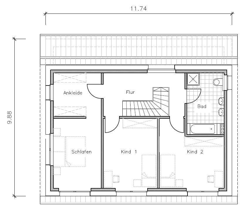 Passivhaus grundriss  Passivhaus Grundriss Obergeschoss | Wohnen | Pinterest ...