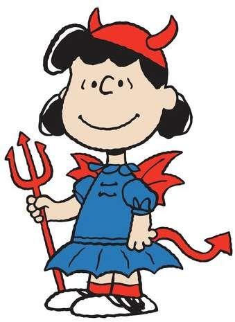 34ce9e772 Marmont Hill Peanuts 'Lucy Devil' Graphic Art Print | Peanuts ...