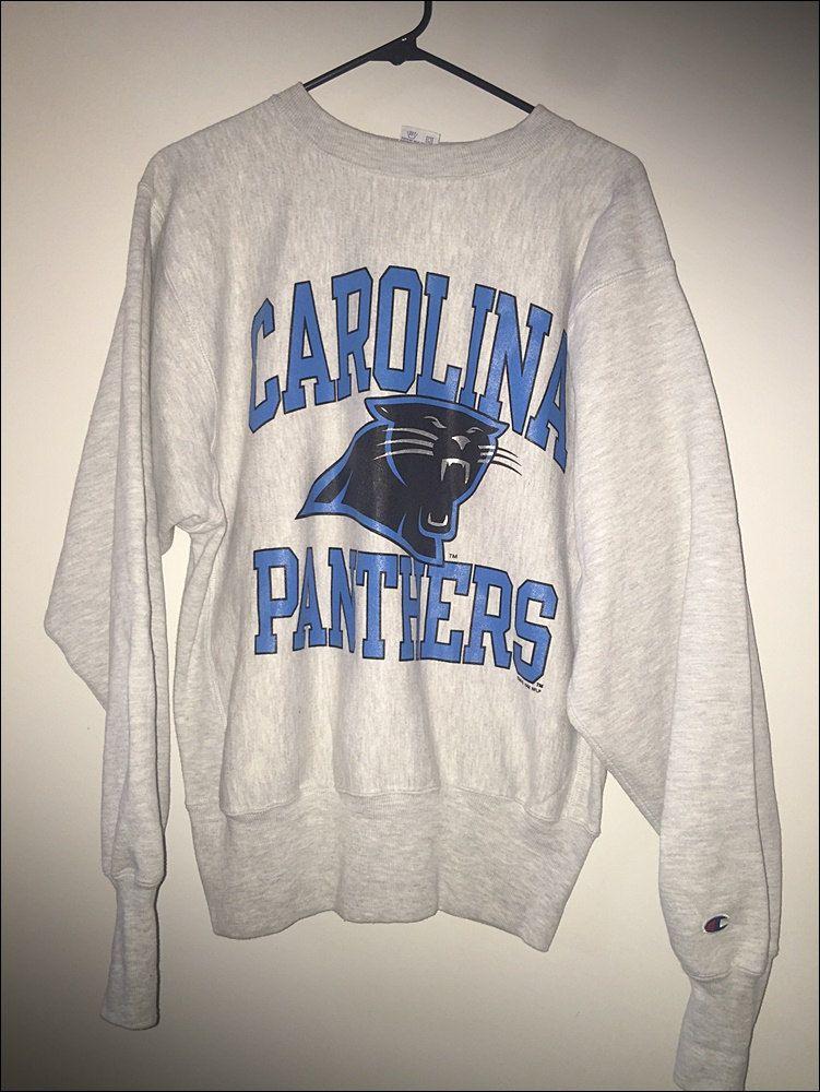 8775a40b Vintage 90's NFL Carolina Panthers Champion Reverse Weave Crewneck ...