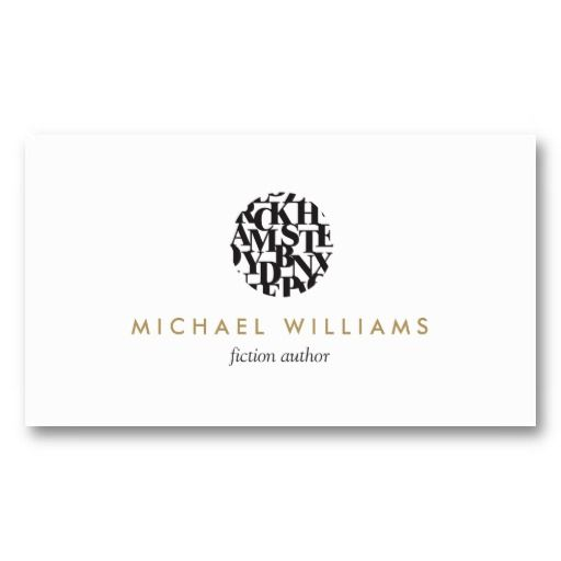 Modern letterform logo and business card template for authors shop modern letterform logo ii for authors and writers business card created by personalize it with photos text or purchase as is colourmoves Images