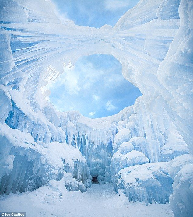 'Ice Farmers' Creating A Massive Ice Castle Featuring