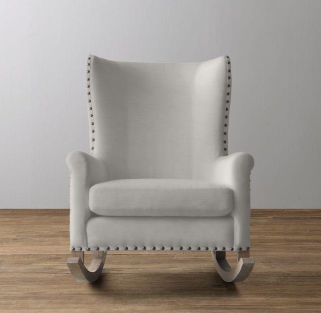 Rocking Chair Silhouette. Rh Baby \u0026 Child\u0027s Wingback Velvet  Nailhead Rocker: