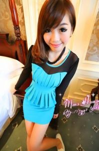 J9672 Grenadine Splicing Tight Hip Dress